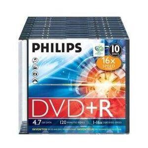 Philips dr4s6s10F/00DVD + R blanks 16x 4,7GB 10-delige Slim Case