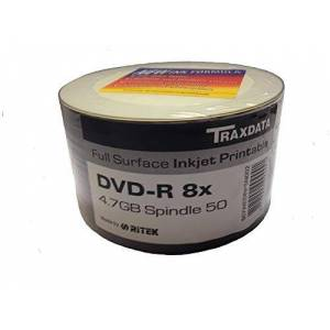 Traxdata RITEK DVD-R Full Surface Inkjet bedruckbar (8x) 4.7GB 50pk Spindel