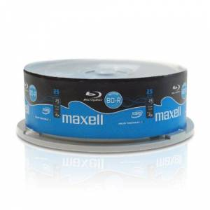 Maxell BD-R blu-ray disc 4x 25GB (25-delige Pack)
