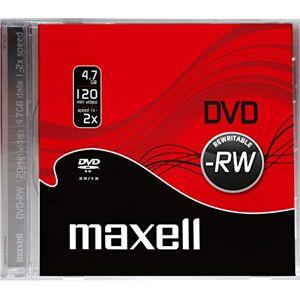 Maxell DVD-RW herschrijfbaar 4,7 GB, 1 eenheid