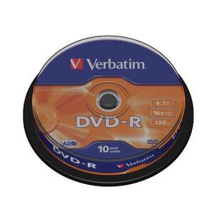 "Verbatim 43521"" DVD-R AZO 4,7 GB, Spindel. 10 stuks"