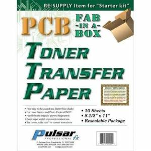 PCB FAB in a Box Toner transfer papier