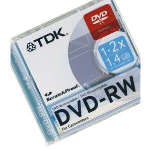 TDK DVD -RW 8cm 1.4GB) schrijfbare DVD 's