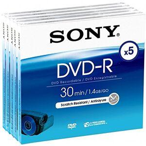 Sony DMR 30DVD-R voor DVD-Camcorder 30minuten 5-serie-Pack