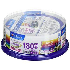 Verbatim 20Verbatim bluray BD-re 25GB 2x Speed herschrijfbare BLU ray originele Spindle (Japan importeren)