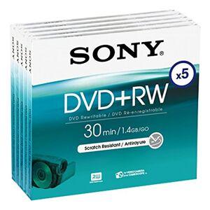 Sony–DVD + RW (herschrijfbare) voor DVD-Camcorder, 30minuten, 5-serie-Pack