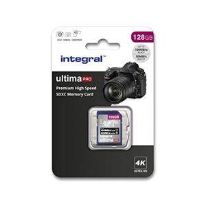 Integrale SD-kaart 256 GB, premium 4K, SDXC snelopslagkaart tot 100 MB/s, V30, UHS-I, U3 128 GB