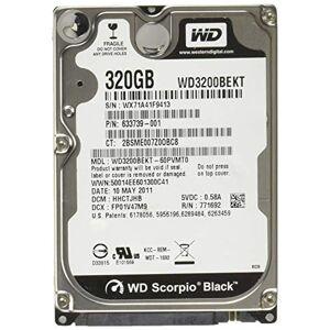 Western Digital Scorpio Black 320 GB interne harde schijf