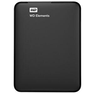 Western Digital WD Elements Portable externe hard drive,USB 3.0, zwart 1 TB