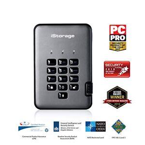 iStorage is-dap2256500-C-g diskashur Pro 2Hard Disk Drive, grafietgrijs 4 TB