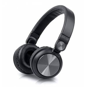 Muse M-060276btb Bluetooth Wireless Stereo over-Ear-hoofdtelefoon, Hands-Free functie, inclusief USB en aux-in kabel zwart