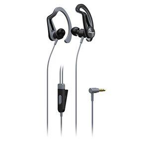 Pioneer SE-E5T Sporthoofdtelefoon met 7 uur looptijd, zweetbestendig, waterafstotend In het oor grijs