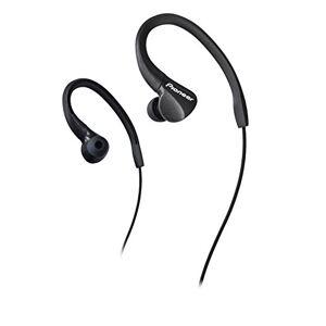 Pioneer Pionner E3 In-Ear Sport Kopfhrer (IPX2 Spritzwassergeschtzt, Over-the-Ear Design Ohrhrer, verwicklungsfreies Kabel (1,2m) mit 3,5mm Klinkenstecker, ideal fr Laufen und Fitness), schwarz