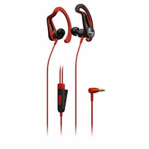 Pioneer SE-E5T Sportkoptelefoon met 7 uur looptijd, zweetbestendig, waterafstotend In het oor rood