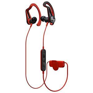 Pioneer SE-e7bt-R Bluetooth Sporthoofdtelefoon met 7uur Looptijd, schweissresitent, waterafstotend Rood