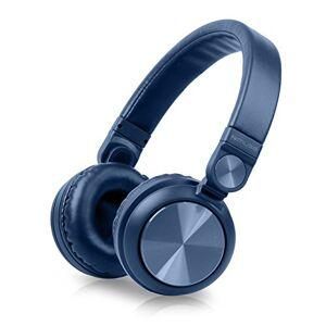 Muse M-060276btb Bluetooth Wireless Stereo over-Ear-hoofdtelefoon, Hands-Free functie, inclusief USB en aux-in kabel blauw