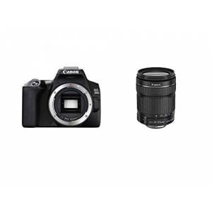 Canon EOS 250D Camera, 24, 1 megapixel, 7,7 cm (3 inch), vari-angle display, APS-C-sensor, 4K, Full-HD, DIGIC 8, WLAN, Bluetooth, zilver, incl. EF-S 18-55 mm f/4-5.6 IS STM objectief, zilver