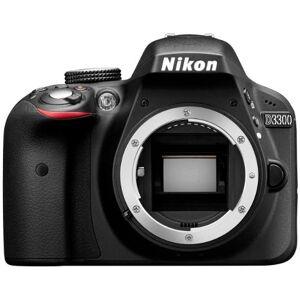 Nikon D3300 Digitale spiegelreflexcamera, 24 megapixels, TFT-LCD-display van 7,6 cm (3 inch), Live View, Full-HD, alleen behuizing, zwart