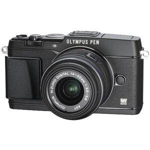Olympus E-P5 Systeemcamera inclusief objectief, 14-42 mm, 16 megapixel MOS-sensor, true pic VI-processor, 5-assige beeldstabilisator, sluitertijd 1/8000s, full-HD, zwart