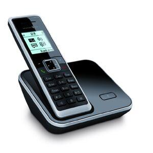 Deutsche Telekom Telekom Sinus 206 Schnurlostelefon mit Grafikdisplay (Farbe: schwarz, 150 Telefonbucheinträge, monochromes Grafikdisplay)
