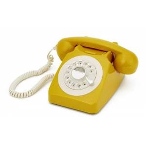 GPO – 746 Retro rotary DIAL Phone in Mustard