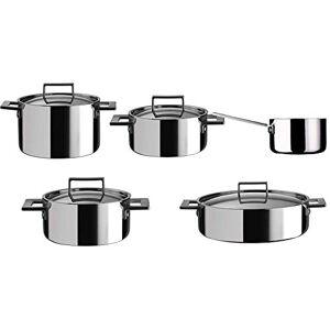 mepra 30180009roestvrij staal kookgerei-set, 5stuks, Zilver