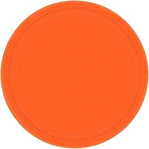 amscan nkleurige kartonborden 23cm 8-delige Pack, oranje