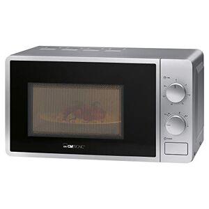 Clatronic MW 791 magnetron, 700 W, 20 l oven, 30 minuten timer met eindsignaal, 6 vermogensniveaus, ovenverlichting, zilver