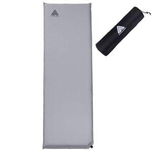 10T Outdoor Equipment 10T Tom 600 762708 Slaapmat, zelfvullend, met kunststof ventiel, grijs, TPU-laag (Thermoplastische polyurethanen), 193 x 63 x 6 cm