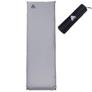 10T Outdoor Equipment Tom 1000 762708 Slaapmat, zelfvullend, met kunststof ventiel, grijs, TPU-laag (thermoplastische polyurethanen), 193 x 63 x 10 cm
