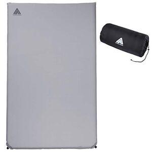10T Outdoor Equipment 10T Tom Twin 762722 Slaapmat, isomat, zelfvullend, met kunststof ventiel, grijs, TPU-laag, 193 x 120 x 6 cm
