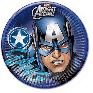 Marvel 23cm Teens Avengers Assemble Party Teller, 8Stck mit Captain America