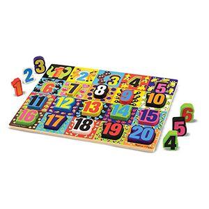 Melissa & Doug–13832–Houten blok-puzzel–jumbo-Cijfers
