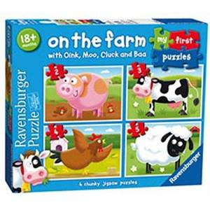 Ravensburger 7302My First puzzel on the Farm puzzel–2, 3, 4en 5Delen