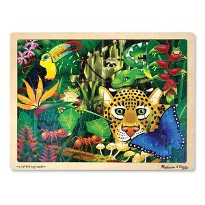 Melissa & Doug 13803 - puzzelspel van hout - regenbos