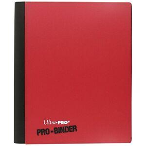Ultra Pro 84025–4-Pocket Flip Pro-binder, Rood/wit