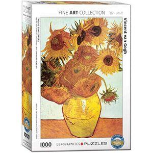 EuroGraphics Puzzle Zwölf Sonnenblumen in einer Vase von van Gogh