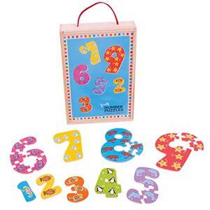 Bigjigs Toys 1-9 puzzels met cijfers