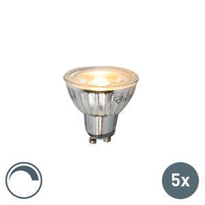 LUEDD Set van 5 GU10 dimbare LED lamp 7W 500LM 2700K