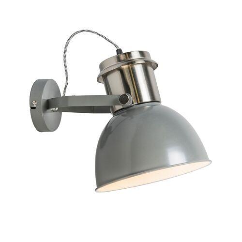 QAZQA Industriële wandlamp grijs - Industrial