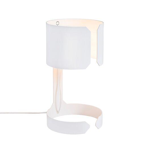 QAZQA Set van 2 design tafellampen wit - Waltz