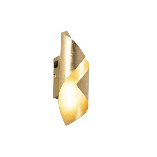 Paul Neuhaus Retro wandlamp bladgoud incl. schakelaar - Belle