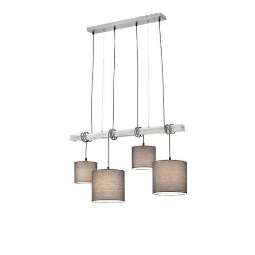 Trio Leuchten Landelijke hanglamp staal 4-lichts - Ard