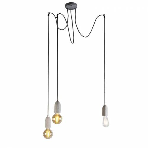 QAZQA Industriële hanglamp grijs beton - Cava 3
