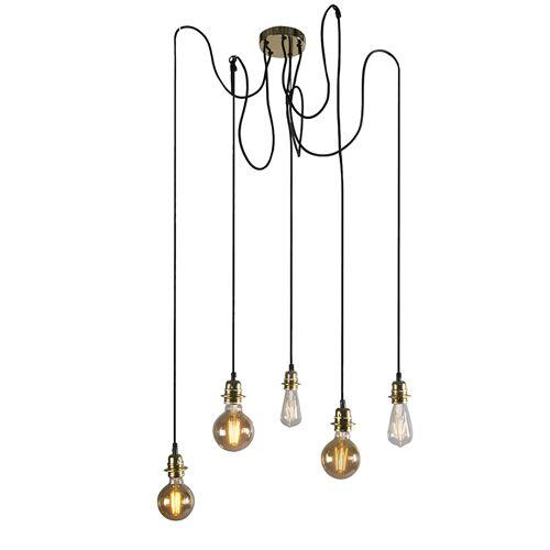 QAZQA Moderne hanglamp goud dimbaar - Cava 5