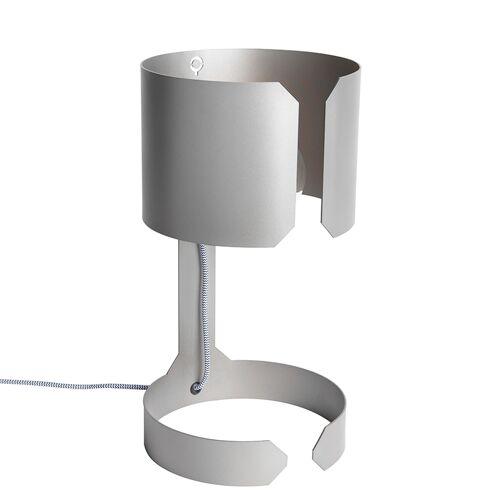 QAZQA Set van 2 design tafellampen mat staal - Waltz