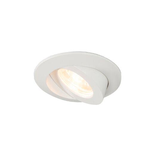 QAZQA Set van 3 inbouwspots wit incl. LED IP44 - Relax LED