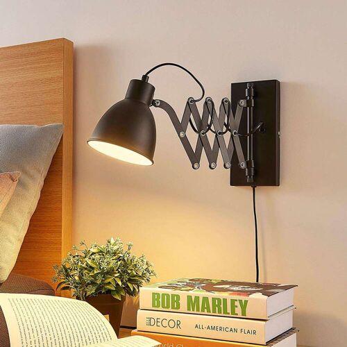 QAZQA Industriële wandlamp zwart...