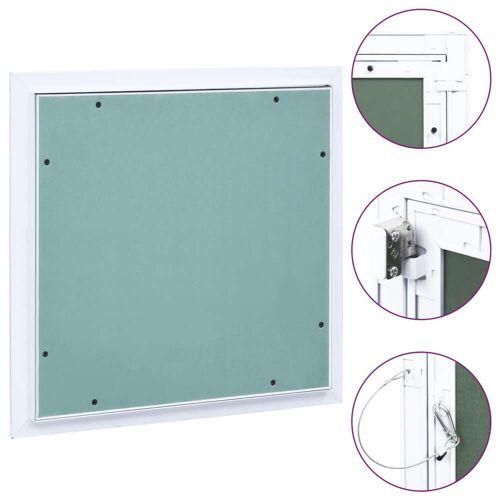vidaXL Toegangspaneel met aluminium frame en gipsplaat 400x400 mm