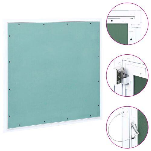 vidaXL Toegangspaneel met aluminium frame en gipsplaat 600x600 mm